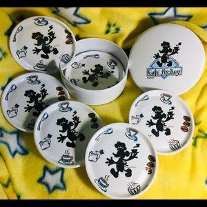 Disney Coaster Set Displayed only!